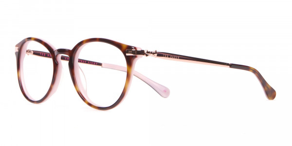 Ted Baker TB9132 Val Women Pink & Tortoise Round Glasses-3