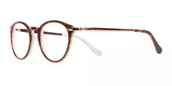Ted Baker TB9132 Val Women Mint & Tortoise Round Glasses-3