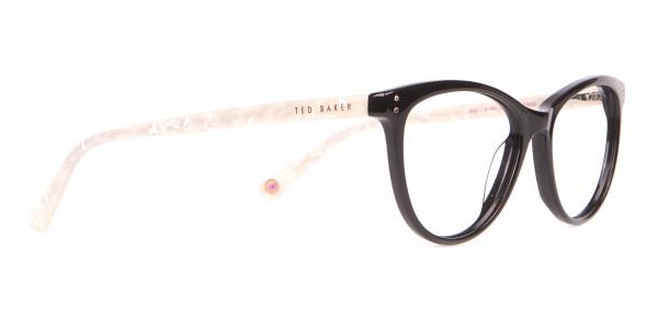 TED BAKER TB9146 Gigi Cat-Eye Glass Black & White Marble-2
