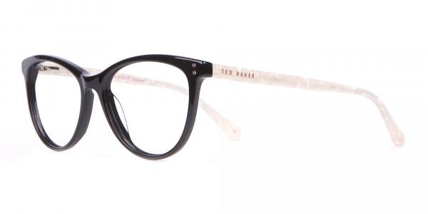 TED BAKER TB9146 Gigi Cat-Eye Glass Black & White Marble-3