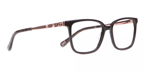 Tad Baker TB9179 Women Black Full Rim Wayfarer Glasses-2