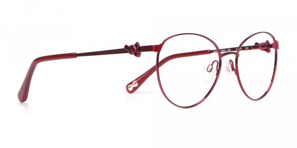 Ted Baker TB2243 Elvie Classic Round Glasses Burgundy Women-2