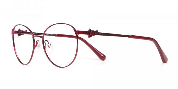 Ted Baker TB2243 Elvie Classic Round Glasses Burgundy Women-3
