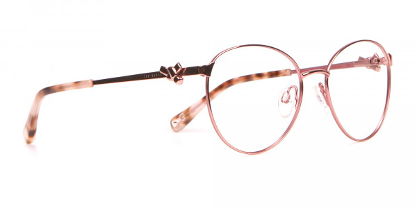 Ted Baker TB2243 Rosegold Round Metal Glasses Women -2