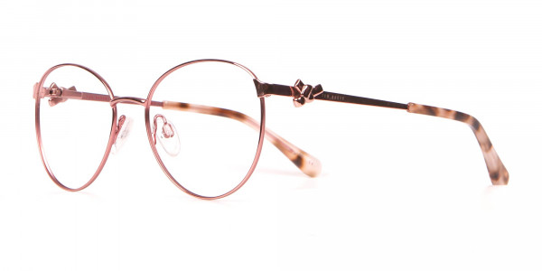 Ted Baker TB2243 Rosegold Round Metal Glasses Women -3