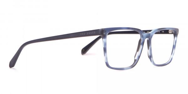 TED BAKER TB8209 ROWE Rectangular Glasses Blue & Black -2