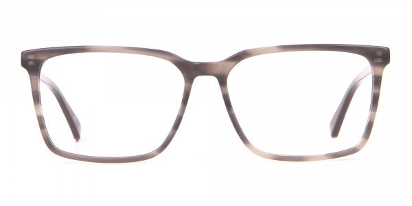 TED BAKER TB8209 ROWE Rectangular Glasses Grey Tortoise-1