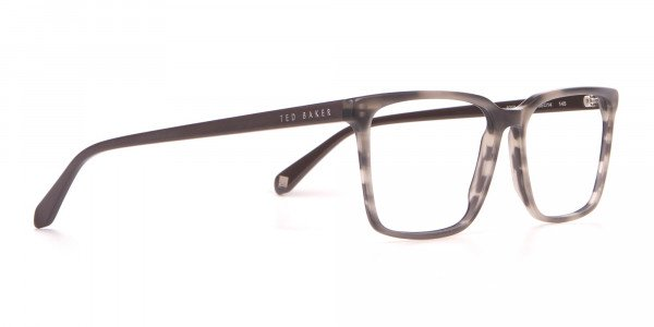 TED BAKER TB8209 ROWE Rectangular Glasses Grey Tortoise-2