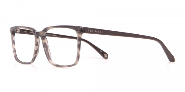 TED BAKER TB8209 ROWE Rectangular Glasses Grey Tortoise-3