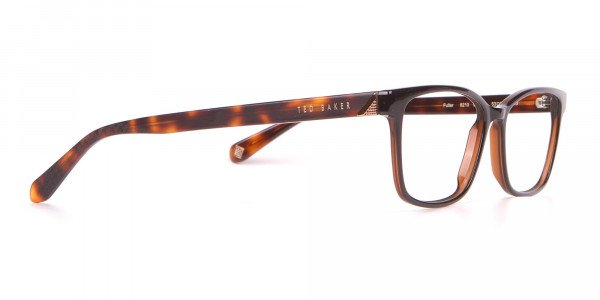 TED BAKER TB2810 FULLER Rectangular Glasses Black & Horn-2