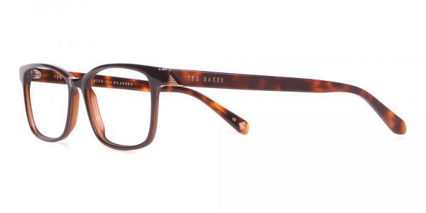 TED BAKER TB2810 FULLER Rectangular Glasses Black & Horn-3