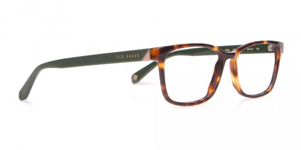 TED BAKER TB2810 FULLER Rectangle Glasses Green & Tortoise-2