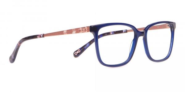 Tad Baker TB9179 Women Blue Full Rim Wayfarer Glasses-2