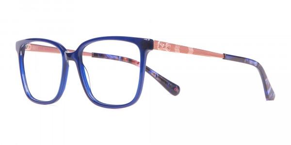 Tad Baker TB9179 Women Blue Full Rim Wayfarer Glasses-3