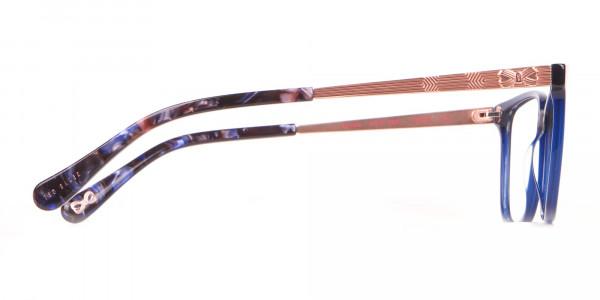 Tad Baker TB9179 Women Blue Full Rim Wayfarer Glasses-4