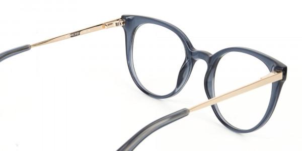 Crystal Grey Round Cat-Eye Glasses-6