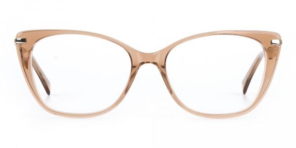 Brown Crystal Eyeglasses Wayfarer & Cat-eye-1
