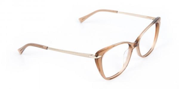 Brown Crystal Eyeglasses Wayfarer & Cat-eye-2