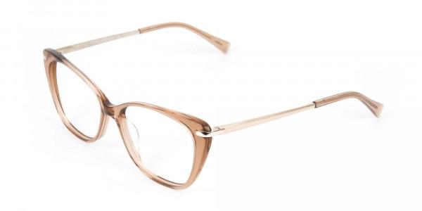 Brown Crystal Eyeglasses Wayfarer & Cat-eye-3
