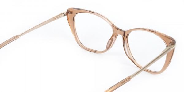 Brown Crystal Eyeglasses Wayfarer & Cat-eye-5