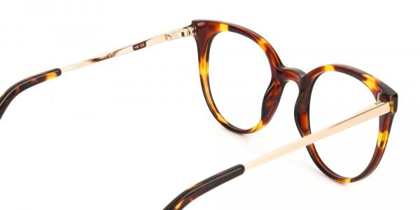 Tortoise Cat-Eye Glasses Gold Temple-5