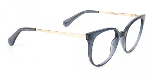 Crystal Grey Round Cat-Eye Glasses-2