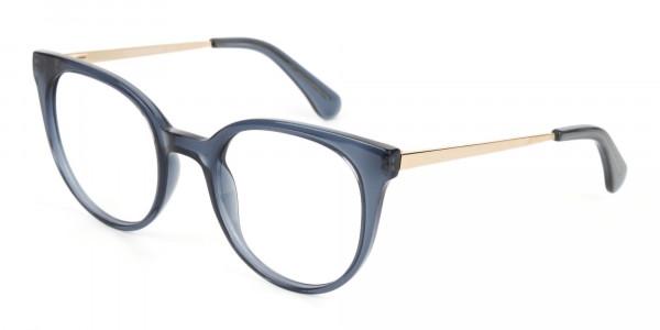 Crystal Grey Round Cat-Eye Glasses-3