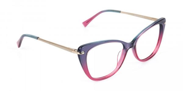Dusty Purple & Magenta Eyeglasses Cat-Eye-2