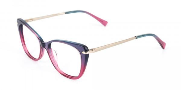 Dusty Purple & Magenta Eyeglasses Cat-Eye-3