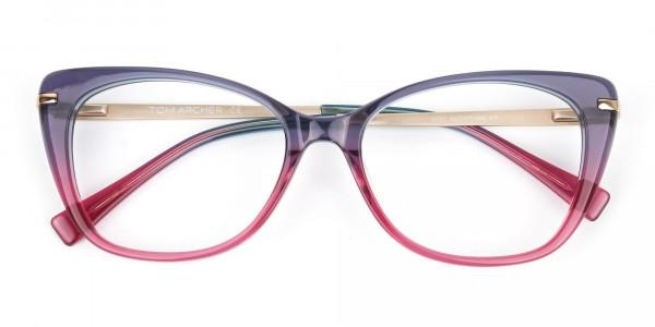 Dusty Purple & Magenta Eyeglasses Cat-Eye-6