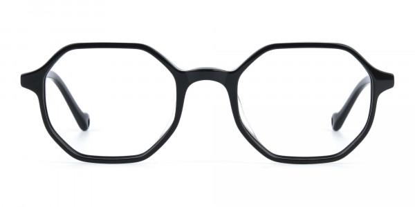 Octagonal Geometric Glasses in Black-1