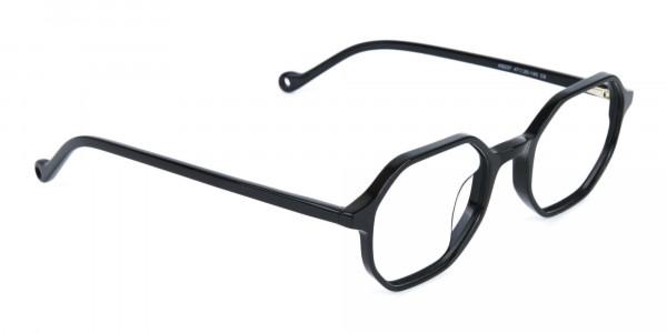 Octagonal Geometric Glasses in Black-2