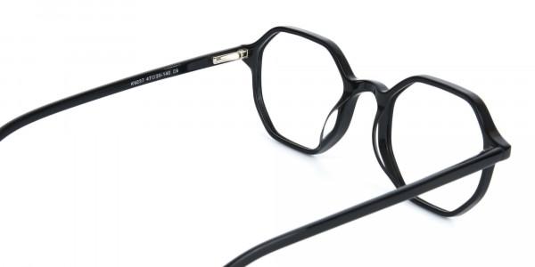 Octagonal Geometric Glasses in Black-5