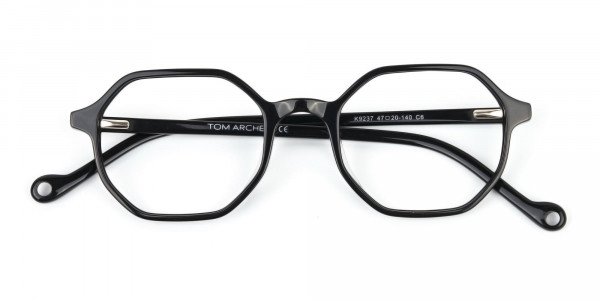 Octagonal Geometric Glasses in Black-6