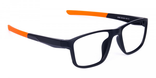 Black and Orange Clear Cycling Glasses-2