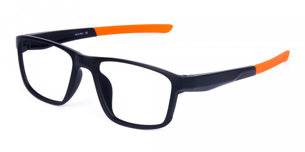 Black and Orange Clear Cycling Glasses-3