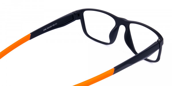Black and Orange Clear Cycling Glasses-5