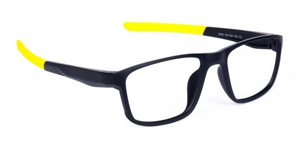 Black and Yellow Frame Cycling Goggles-2