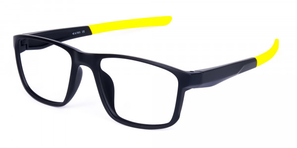 Black and Yellow Frame Cycling Goggles-3