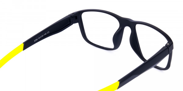 Black and Yellow Frame Cycling Goggles-5