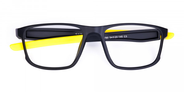 Black and Yellow Frame Cycling Goggles-6
