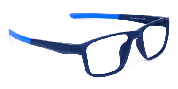 Navy Blue Rectangular polarized fishing glasses-2