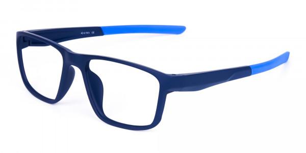 Navy Blue Rectangular polarized fishing glasses-3