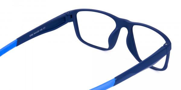 Navy Blue Rectangular polarized fishing glasses-5