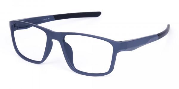 Matte Blue Rectangular Glasses For Golf - 3