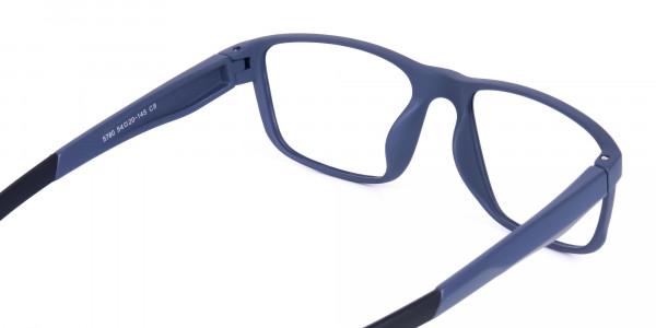 Matte Blue Rectangular Glasses For Golf- 5