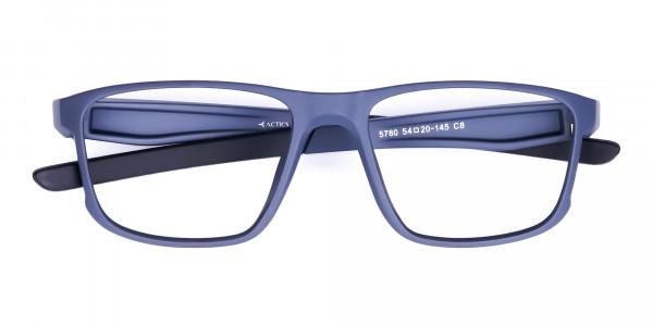 Matte Blue Rectangular Glasses For Golf-6