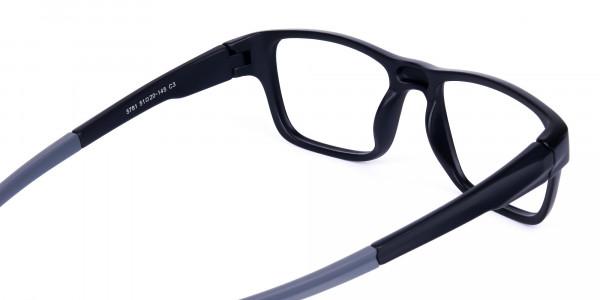Rectangular Matte Black and Grey sports goggles-5