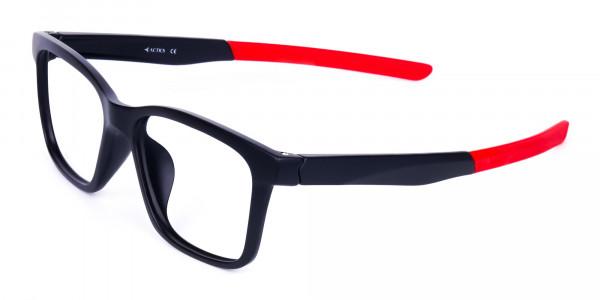 Red & Black Rectangular Rim Goggles For Biking-3