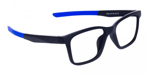 Blue & Black Running Glasses For Men -2